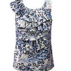 CAbi Silk skin blue top style 628 L